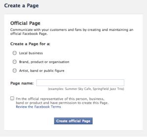 Create an artist's Facebook page